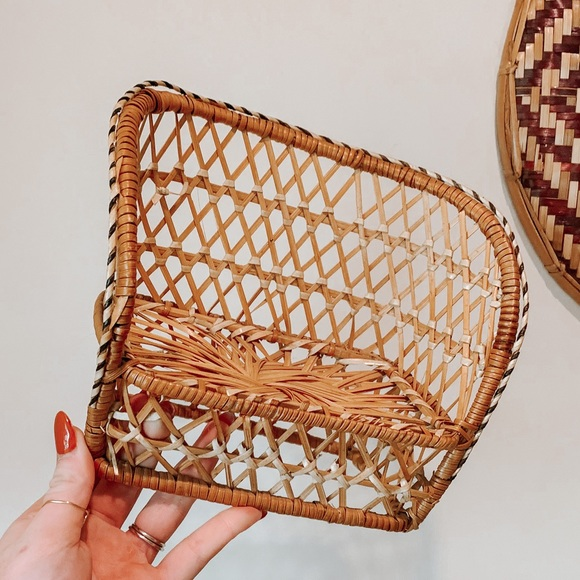 Vintage Wicker Plant Stand Doll House Loveseat